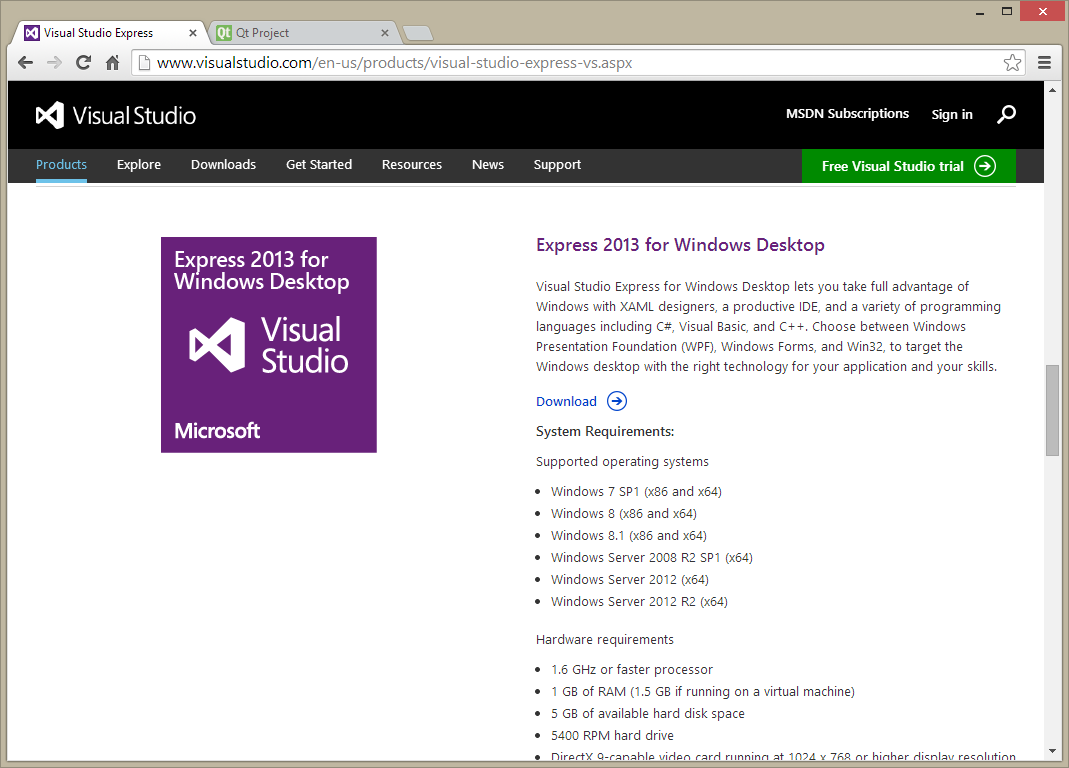 Visual c# 2013 express download for pc free.