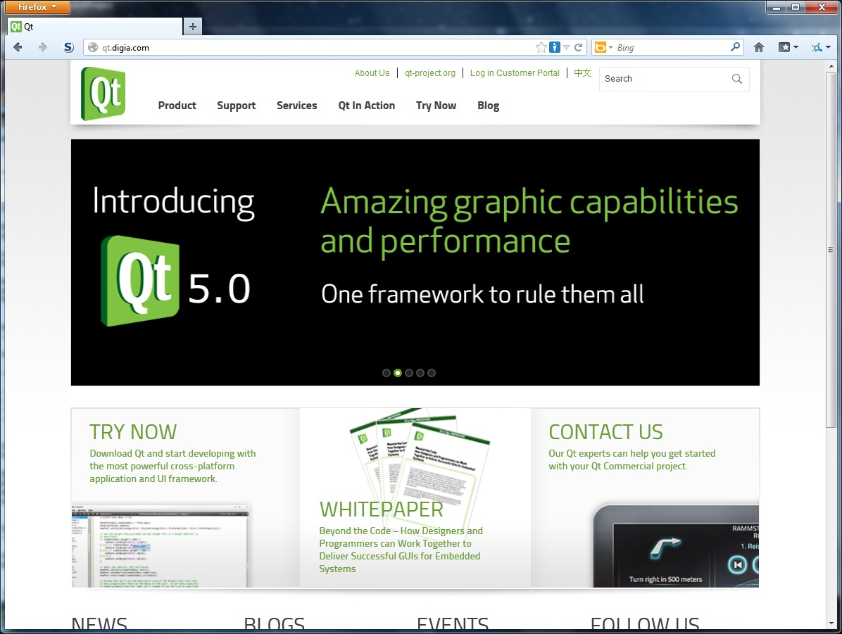 digia Qt homepage